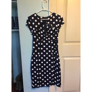ModCloth Polka Dot Fitted Dress
